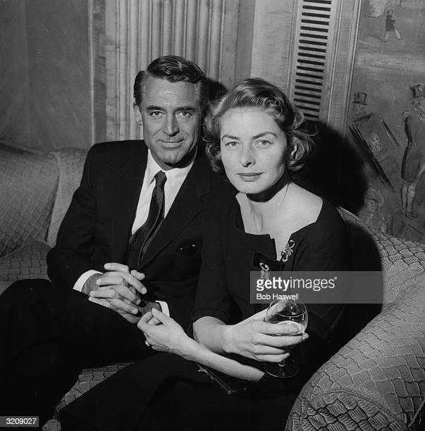 Ingrid Bergman and Cary Grant at the Dorchester Hotel London to talk about filming Stanley Donen's 'Indiscreet' in England