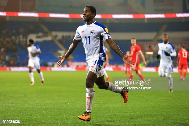 14th November 2017 International Friendly Wales v Panama Armando Cooper of Panama celebrates after scoring their first goal