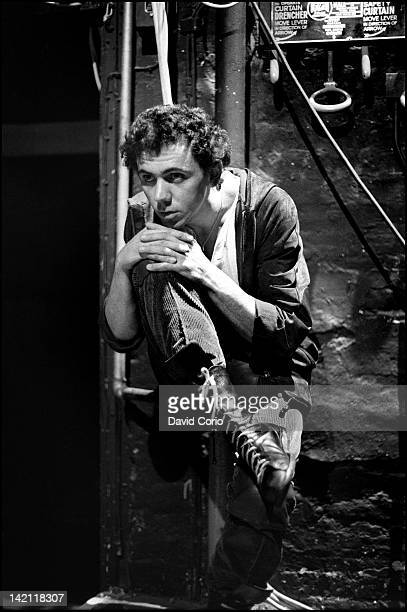 Kevin Rowland of Dexys Midnight Runners posed backstage at the Old Vic Theatre London UK on 14 November 1981