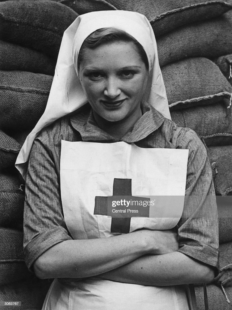 Margery Binner, a musical comedy actress during her period of volunteer work for the Red Cross.