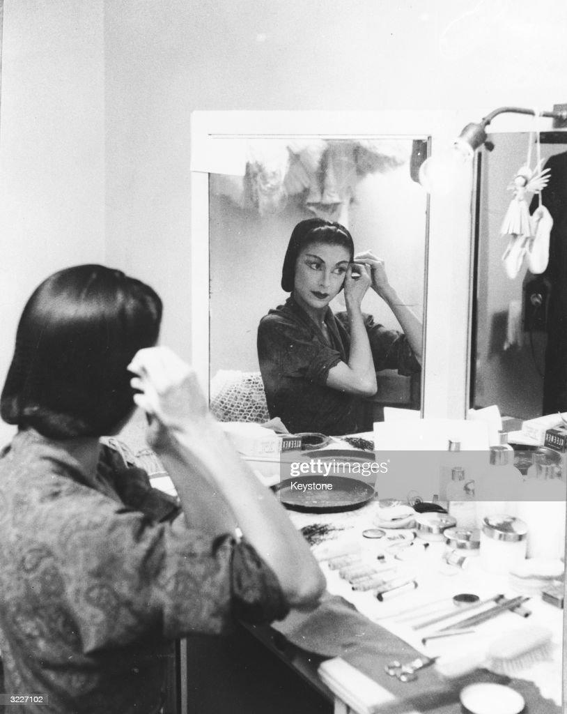 Prima ballerina Margot Fonteyn (1919 - 1991) backstage at the Scala Milan, where she is performing in Ciaikpwski's ' La Bella Addormetat Nel Bosco'.