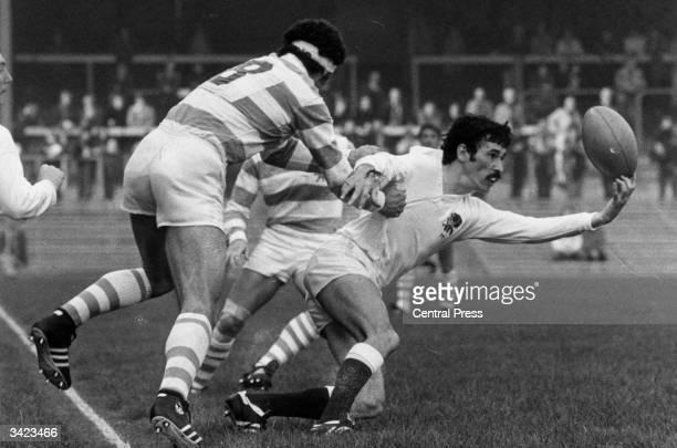 Rugby Union England v Argentine at Twickenham London Michael Slemen and Gabriel Travaglini