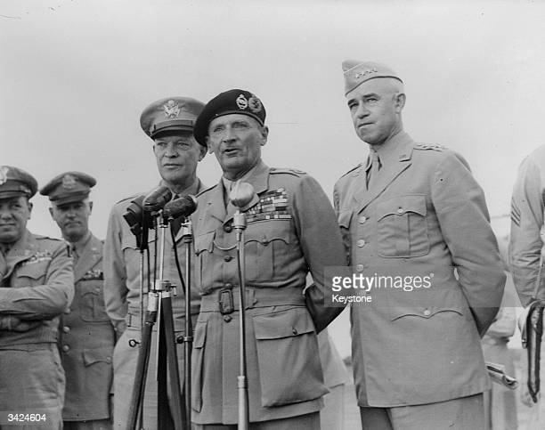 British Soldier Field Marshal Bernard L Montgomery Speaking Shortly After Arriving In Washington DC American General