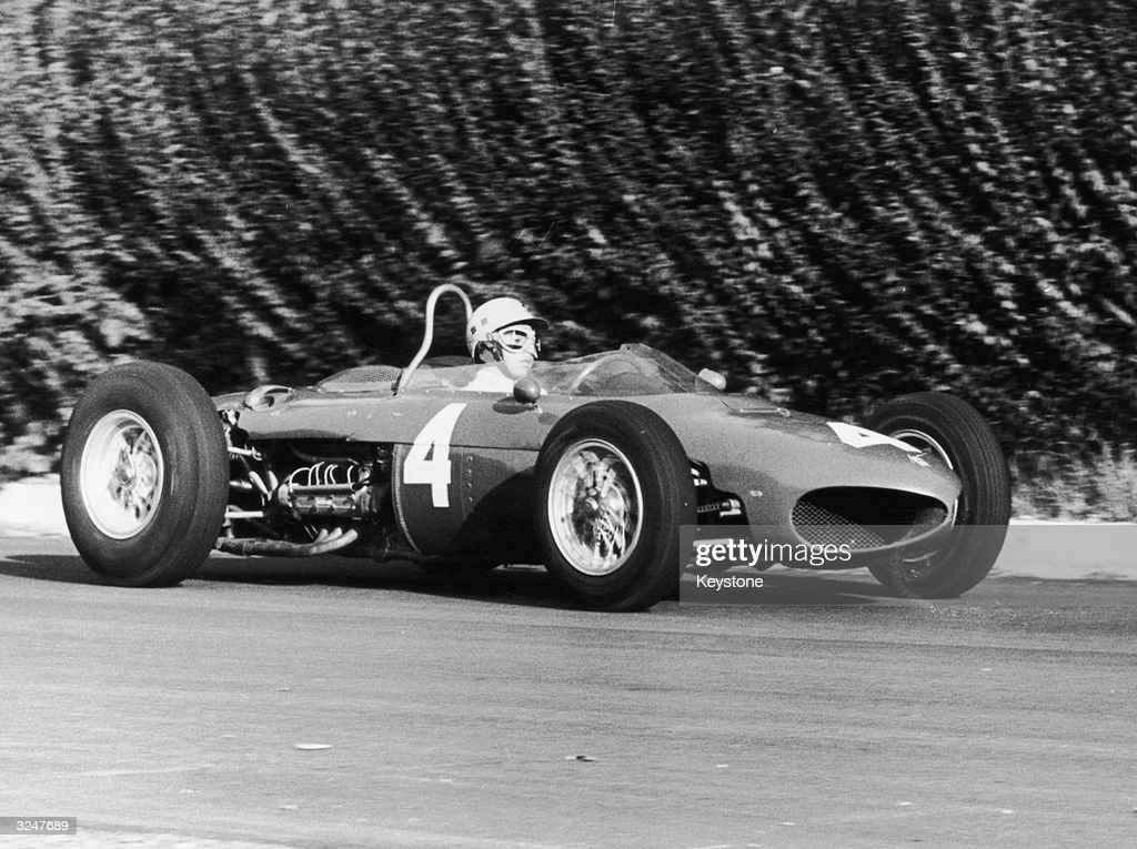 Mexican racing driver Ricardo Rodriguez (1942 - 1962) in a Ferrari 156 during practice for the Italian Grand Prix at Monza.