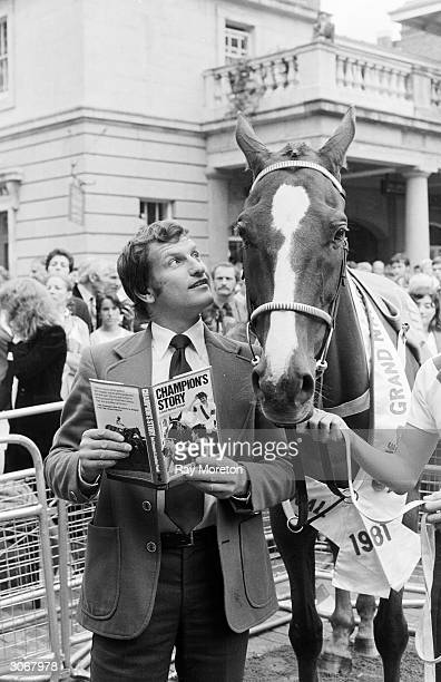 English jockey and Grand National winner Bob Champion with Aldanti at Covent Garden London In 1979 Champion was told he had cancer and only eight...