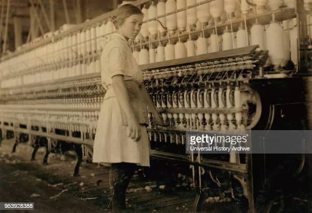 14yearold Spinner FullLength Portrait Brazos Valley Cotton Mill West Texas USA Lewis Hine for National Child Labor Committee November 1913