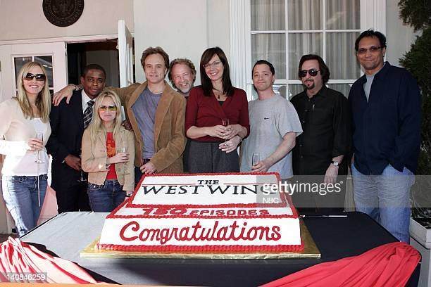WING 150th EPISODE CELEBRATION 'Election Day' Episode 16 Aired Pictured Janel Moloney as Donna Moss Dule Hill as Charlie Young Kristin Chenoweth as...