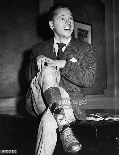 1/5/1948London England Actor Mickey Rooney displays a Hairy limb at reception in his honor at the London Palladium where he was booked for a variety...