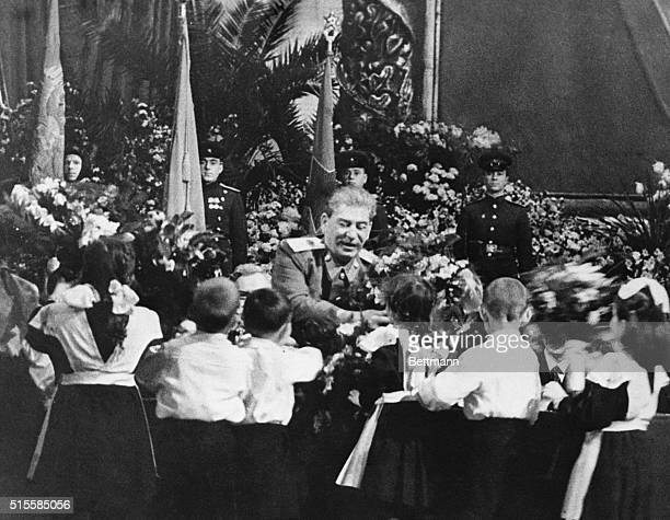 1/5/1950Moscow USSRCommunist top brass including the Chinese Communist leader gathered at the Bolshoi Theater in Moscow on Dec21 to pay honor to...