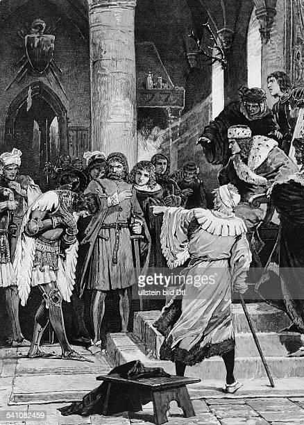 1484 1535Kurfürst von Brandenburg 1499 1535 spricht das Todesurteil über seinen der Wegelagerei angeklagten Freund von Lindenberg Zeichnung von A Zick