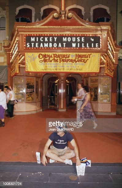 15ème anniversaire du parc Disneyworld à Orlando en Floride, en octobre 1986, aux Etats-Unis.