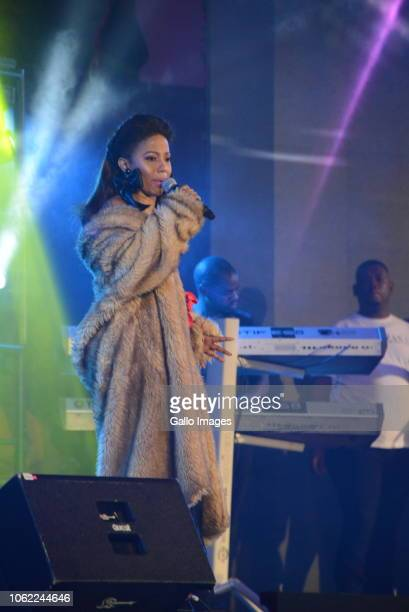 Singer Kelly Khumalo during the 10th annual Feather Awards at the Johannesburg City Hall on November 15 2018 in Johannesburg South Africa The annual...