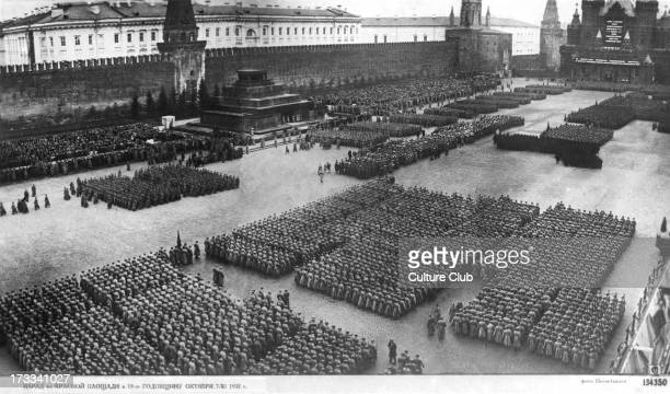 15th anniversary of October Revolution 7 November 1932 Red Square Moscow Russia October uprising part of Russian Revolution of 1917