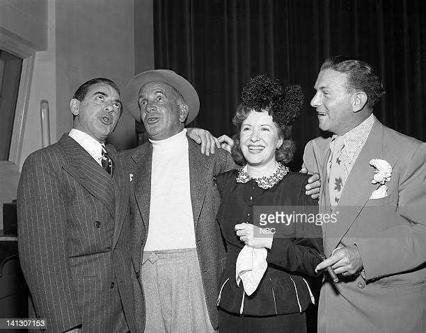 SHOW 15th Anniversary Pictured Host Eddie Cantor Al Jolson Gracie Allen George Burns in 1947
