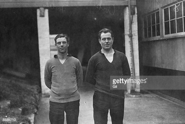 Two Soccer players from Plymouth Argyle FC Forbes and Cock