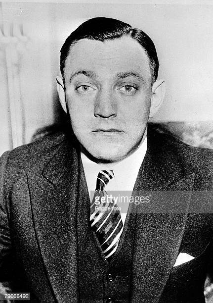 "15th April 1935, U,S,A, American gangster ""Dutch"" Schultz"" pictured before going on trial in New York for tax evasion on two million pounds he has on..."