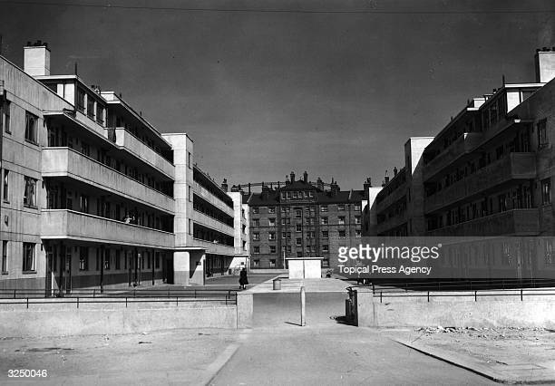 The new flats on the London County Council Minerva Street at Bethnal Green built on a bombdamaged site