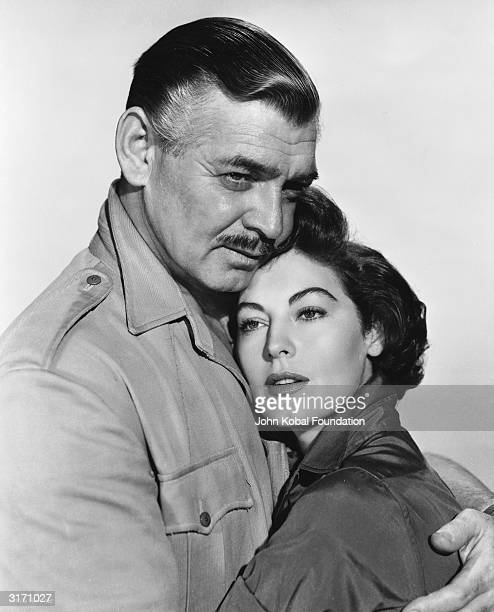Clark Gable and Ava Gardner as they appeared in 'Mogambo' directed by John Ford
