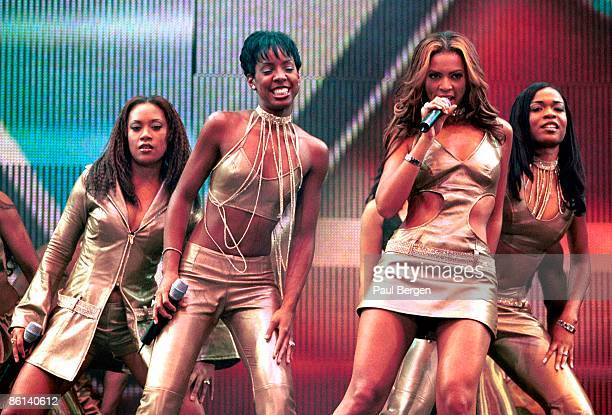 Destiny's Child perform live on stage at the TMF Awards at Ahoy in Rotterdam Netherlands on 15th April 2000 Left to right Farrah Franklin Kelly...