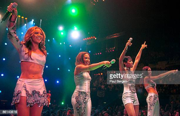 Destiny's Child perform live on stage at the TMF Awards at Ahoy in Rotterdam Netherlands on 15th April 2000 Left to right Beyonce Knowles Farrah...