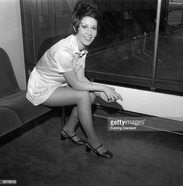 Former child singer Helen Shapiro at London airport