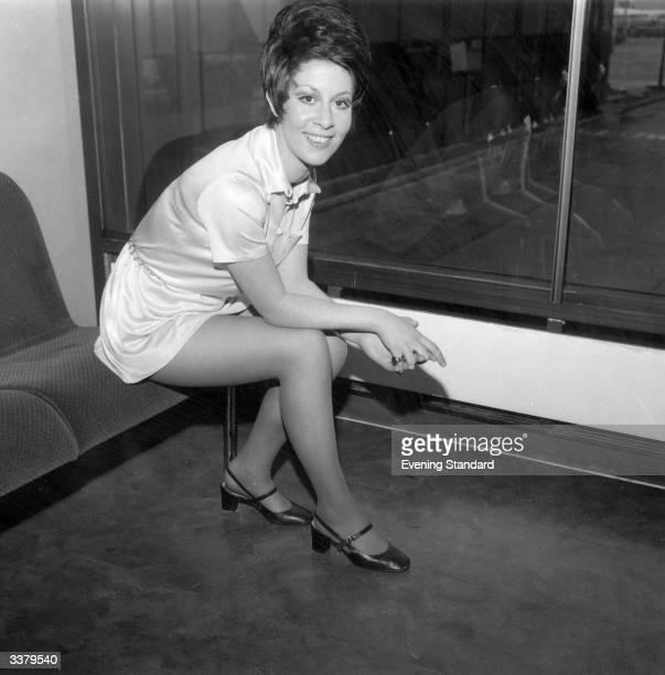 Former child singer Helen Shapiro at London airport