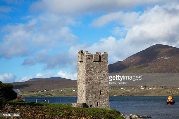 15Th Century Kildavnet Castle; Achill Island, County Mayo, Ireland