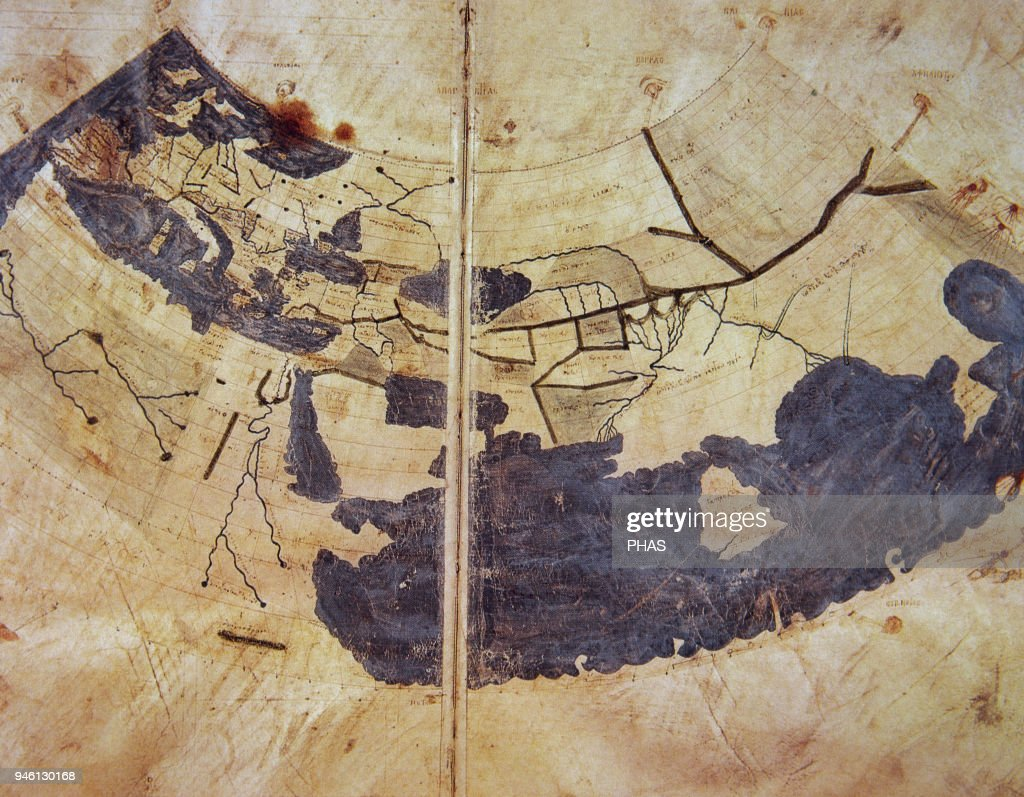 15th Century Manuscript Copy Of Ptolemy World Map Reconstituted