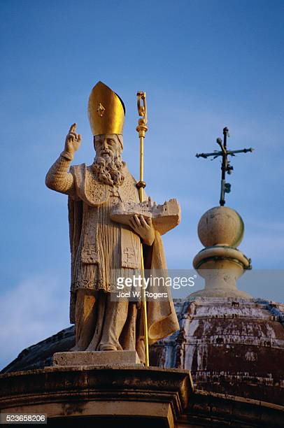 15th century statue of st. blaise - faith rogers stock pictures, royalty-free photos & images