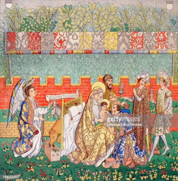 15Th Century Tapestry Of The Adoration Of The Magi From Les Artes Au Moyen Age Published Paris 1873