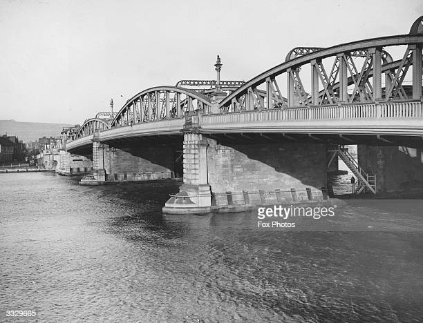 The road bridge over the river Medway at Rochester Kent