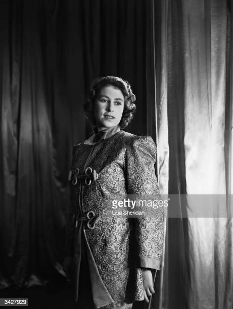 Princess Elizabeth in her pantomime costume as Aladdin at Windsor Castle