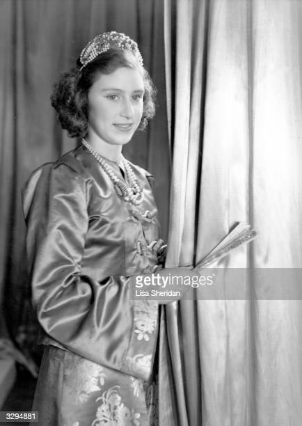 Princess Margaret Rose younger daughter of King George VI and Queen Elizabeth in her costume for a production of 'Aladdin' at Windsor Castle