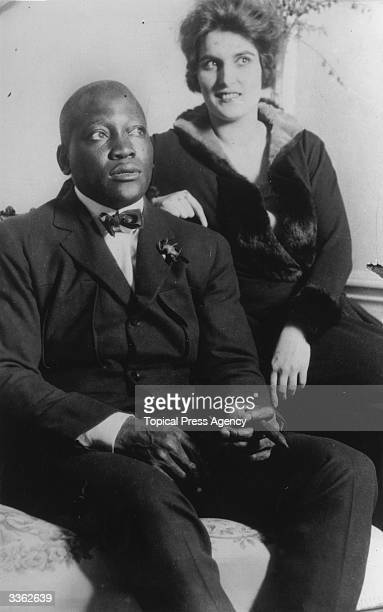 American boxer Jack Johnson with his wife
