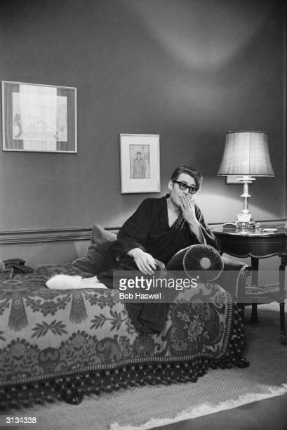 Irish leading man Peter O'Toole, star of Richard Brooks' adventure 'Lord Jim' relaxing at home.