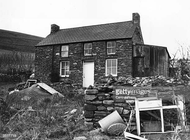 'Penlleinall' house in Tregaron Wales the alleged home of Dr Christine Bott where a large haul of LSD was found buried under the sitting room