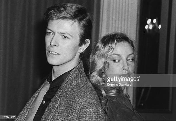 British rock singer David Bowie with Americanborn actress Sydne Rome