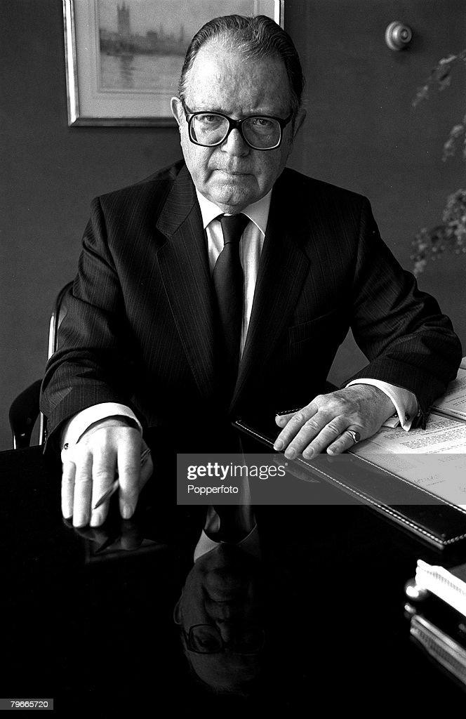 15th February 1988, Lord Cockfield pictured in his London office : News Photo