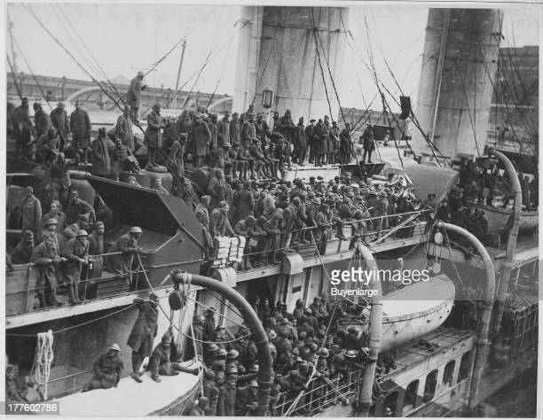 15th Infantry fighters home with War Crosses on the French liner La France New York 1919