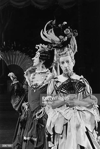 Robert Helpmann and Frederick Ashton playing the two ugly sisters in a production of the ballet 'Cinderella' at Covent Garden Theatre London Original...
