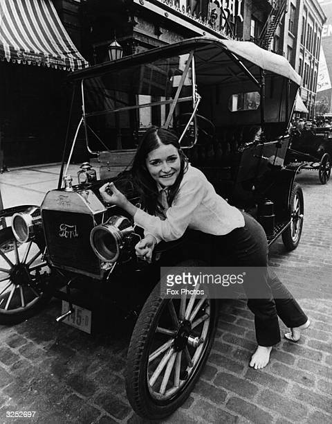Canadian actress Margot Kidder relaxes on the set of 'Gaily Gaily' in which she stars with Brian Keith