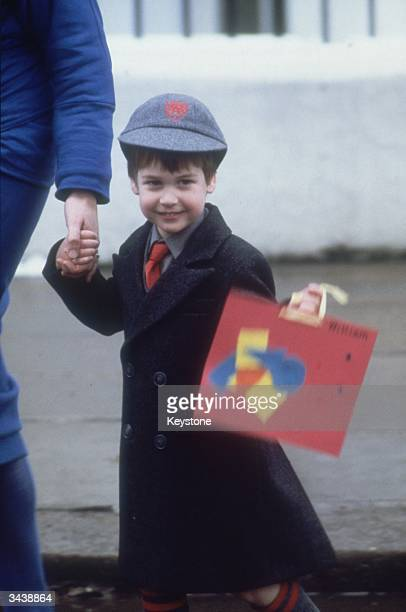 Prince William on his first day at Wetherby School London