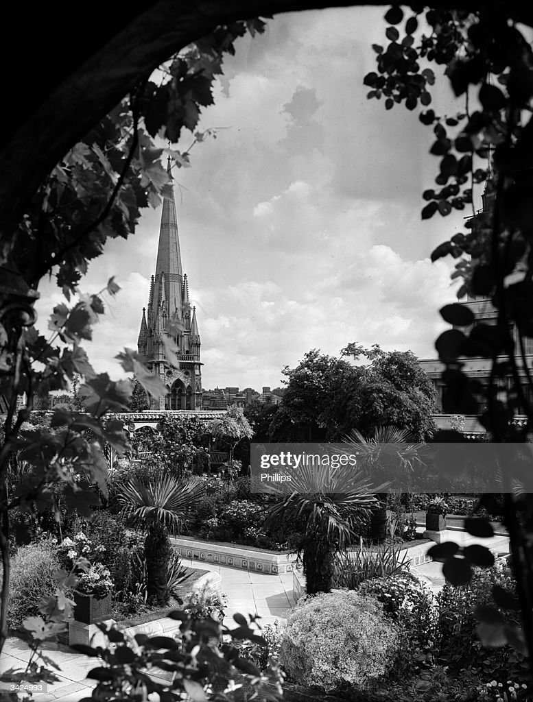 A view of the flourishing roof garden on top of Derry and ...