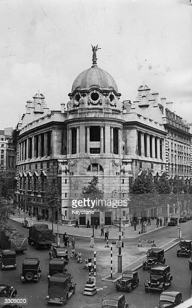 The exterior of the Gaiety Theatre on the corner of the Strand in London after being sold to the Government of India