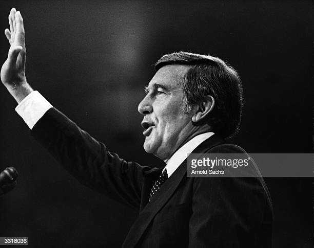 American Candidate for the Democratic Party nomination for the US Presidency of 1976 Morris Udall