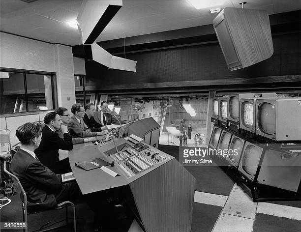 The control room of Studio Three at the BBC television centre in White City London