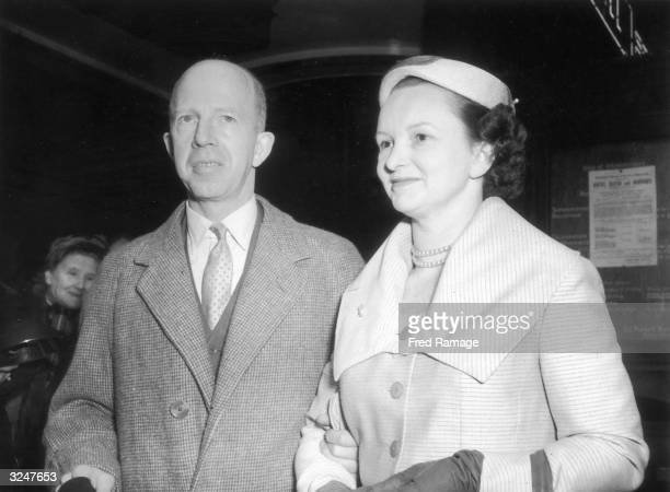 Home Office pathologist Dr Keith Simpson and his secretary Jean Anderson at their wedding at Caxton Hall