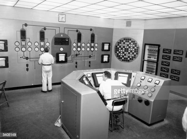 The Central Control Room of reactor No 2 at the Calder Hall nuclear power station in Cumbria The station later became known as Sellafield