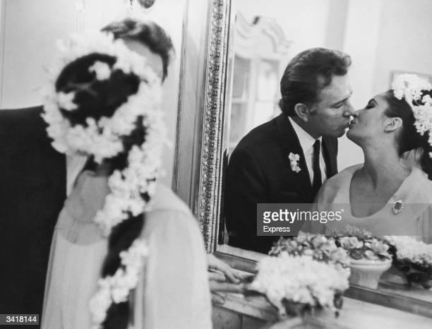 Actress Elizabeth Taylor marries her fifth husband Richard Burton in Montreal.