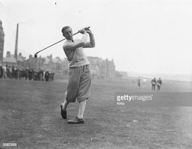 L T Cotton driving from a green during a round of the British Open Golf Championships at St Andrews golf course in Fife central Scotland The Royal...